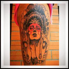 Indian tattoo legs boho by Kostas stamoulis