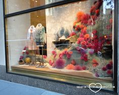 I posted a different, Boston, version of these windows a couple of months ago . In May, I visited the Rockefeller Center Anthropologie wind...