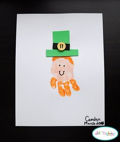 Handprint Leprechauns - could probably use same concept but do pilgrims for Thanksgiving instead