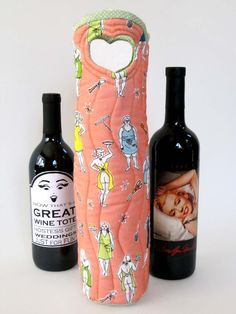 Naked Chef Wine Tote with Women by NotYourGrandmothers on Etsy, $38.00