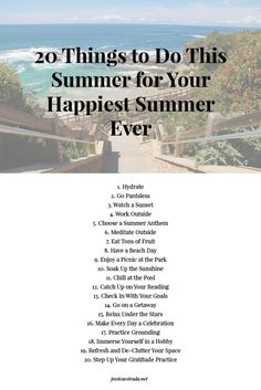 20 Things to Do This Summer for Your Happiest Summer Ever