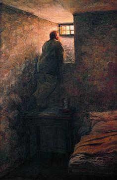 The Prisoner, 1878 by Nikolai Alexandrovich Yaroshenko (Russian 1846 - 1898)