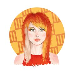 Hayley #2. Look: Misery Business music video. Hayley Williams, Paramore, hairstyles, orange hair, illustration, design,