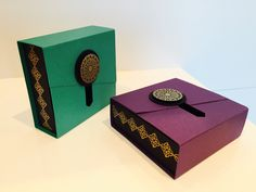 Slider Opening Gift Box - Video Tutorial using Moroccan Nights by Stampi...