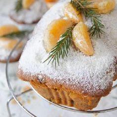 Рождественский кекс с мандаринами (апельсинами)