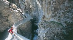 620 Meter lang ist die Steiganlage in der Lötzklamm