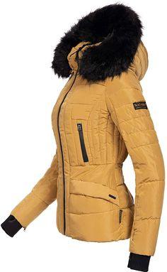 aa40b8b83a21ca Navahoo Damen Winter Jacke Steppjacke Adele (vegan hergestellt) Camel Gr.  XS: Amazon
