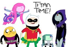 Teen Titans goes Adventurous! ALL THE YES!!!!!!!!!!!