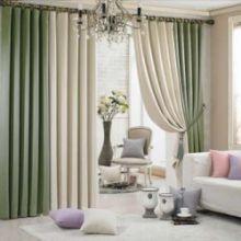 Двухцветные шторы: вариант первый