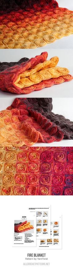 Fire Blanket Crochet Pattern                                                                                                                                                                                 More