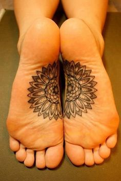 Original foot mandala tattoo
