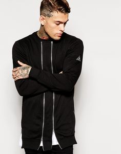 Stephen James Criminal Damage Sweatshirt With Parallel Zips ❤️