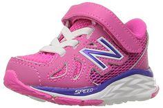 New Balance KJ888V1 Infant Running Shoe (Infant/Toddler), Blue/Pink, 17 XW EU