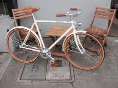 Jonathan's Custom Cream & Honey Linus Roadster by Manifesto Bicycles, via Flickr