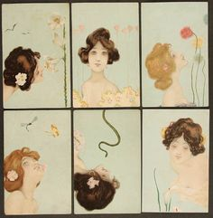 Raphael Kirchner : Femmes du soleil, 1901