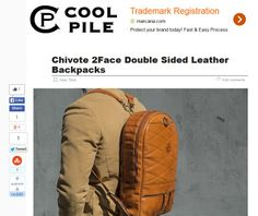 Cool Pile... http://coolpile.com/gear-magazine/chivote-back2back-double-faced-leather-backpacks/
