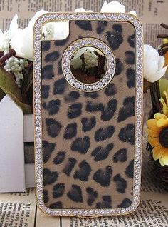 iPhone 5 Case - iPhone 4/4s Case - Bling iPhone Case, Crystal iPhone Case, iPhone Cover, Diamond Chanel Flower iPhone Case. $17.99, via Etsy.
