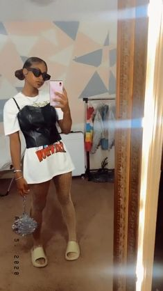 Cute Swag Outfits, Edgy Outfits, Retro Outfits, Girl Outfits, Fashion Outfits, Big Fashion, Fashion Killa, Pretty Black Girls, College Outfits