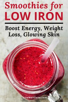 Healthy Smoothies for Low Iron (For Energy, Weight Loss, Natural Glow) - Best of Live Well Zone , Energy Smoothie Recipes, Energy Smoothies, Good Smoothies, Smoothie Diet, Weight Loss Smoothies, Juicing Recipes For Energy, Healthy Skin Smoothie, Easy Healthy Smoothie Recipes, Smoothie Recipes With Yogurt