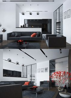 Relaxing Living Rooms with Gorgeous, Modern Sofa (3)
