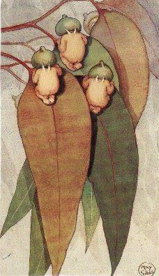 May Gibbs: Gumnut babies from Australian childhood favourite, 'Snugglepot & Cuddlepie'