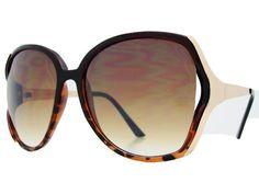 Womens oversized sunglasses O013 Tortoise