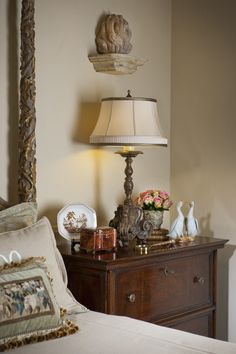 Chambers Interiors Charming Chateau » Chambers Interiors (like the different color band on lamp shade)