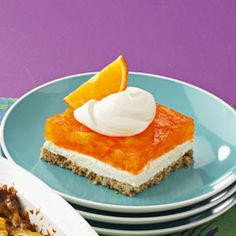 Orange Jello Pretzel Salad