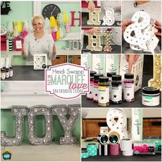 My Craft Channel: DEC Heidi Swapps Marquee Love Introduction, Melissa Frances' Chalk Dust Featured Buy Marquee Love, Marquee Letters, Crafts To Make, Arts And Crafts, Paper Crafts, Diy Crafts, Craft Tutorials, Craft Projects, Craft Ideas