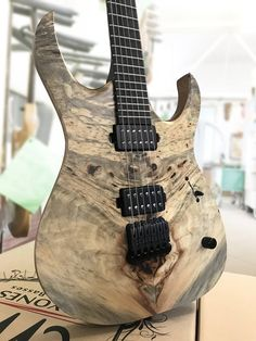 Mayones Duvell Elite 6 Custom Shop Buckeye Burl top Trans Natural Satin finish — with Luminlay, Hipshot Products Inc, SIT Strings, Bare Knuckle Pickups, Graph Tech Guitar Labs, Hiscox Cases, Electroswitch Electronic Products, Bourns and Switchcraft