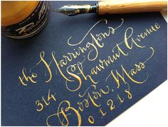 prepmyway:  The art of Calligraphy. So lovely.