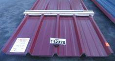 Paket 112320 / DD - OML   Trapezblech 40.250/4 Dach mit gratis Schutzplatte in anderer Farbe   Stahlsonderprofil Hochvergütungsstahl beidseitig sendzimirverzinkt Materialstärke: 0,45 mm Polyesterfarblackierung 25 µ Farbton ä. RAL 3004 purpurrot   Nutzdeckbreite pro Platte: 1,000 Meter Liefer-Rechnungsbreite pro Platte: 1,050 Meter   Coil leer walzen