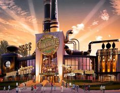 The restaurant coming to Universal Orlando CityWalk has a new name. Formerly called The Toothsome Chocolate Factory & Savory Feast Emporium the new name will be The Toothsome Chocolate Emporium & Savory Feast Kitchen.  #universal #Orlando #universalorlando #citywalk #restaurant #chocolate #notwillywonka #steampunk