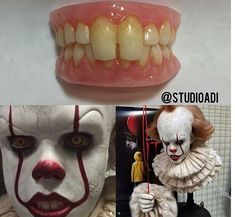 Pennywise (Bill Skarsgard) teeth prosthetics that he wore while being that clown (which made him drool nonstop_