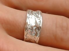 wedding band - white gold