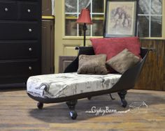 Upcycled Clawfoot Tub Chaise Lounge