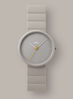 Part of the new 2014 watch collection from Braun, the features a ceramic face paired with matching ceramic bracelet, giving superior hardness and scratch resistance when compared to metal straps. Available in stone and black from August Modern Watches, Cool Watches, Watches For Men, Cheap Watches, Women's Watches, Dieter Rams Design, Braun Dieter Rams, Braun Design, Limited Edition Watches