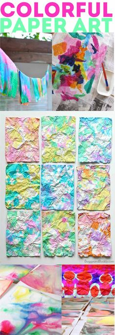 60+ Paper Crafts for kids and adults from the Rockin' Art Moms: Colorful Paper Art Projects