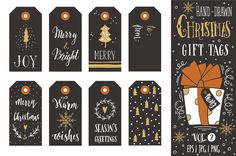 Christmas gift tags | vol.2 by Blue Ink Studio on Creative Market