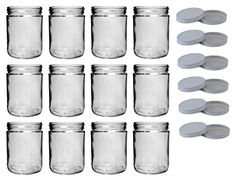 North Mountain Supply 16 Ounce Wide Mouth StraightSided Canning Jars  With White Metal Lids  Case of 12 -- Review more details @