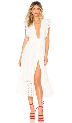 Mistwood Dress in White