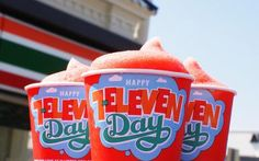 Picture of free Slurpees on 7-Eleven Free Slurpee Day - 7-Eleven
