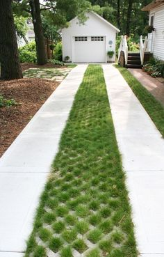 An eco-driveway is the ideal solution for reducing storm water runoff while stil. - An eco-driveway is the ideal solution for reducing storm water runoff while still providing the ben - Driveway Entrance Landscaping, Permeable Driveway, Driveway Design, Landscaping Near Me, Front Walkway, Driveway Ideas, Gravel Driveway, Driveways, Grass Pavers