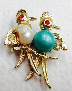 Bird Brooch Pretty by JewelryLoveCharm on Etsy