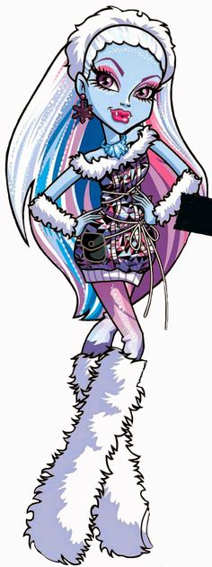 all about monster high abbey bominable artwork