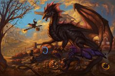 The Pie is not a Lie by =The-SixthLeafClover on deviantART ~ ♥ #dragons #fantasy #art