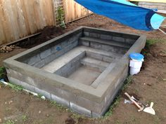 DIY Concrete Block Soaking Pool - In Progress, Advice Welcome! : DIY Concrete Block Soaking Pool - In Progress, Advice Welcome! Small Swimming Pools, Small Pools, Swimming Pools Backyard, Backyard Landscaping, Backyard Patio, Pavers Patio, Patio Stone, Hot Tub Backyard, Lap Pools