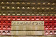 Old Town Metro-Prague Rapid Transit, Corporate Identity Design, Cartography, Store Design, Prague, Old Town, Vintage Posters, Signage, Design Ideas