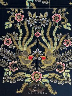 Motif Batik Printing Pekalongan - Eza Batik Batik Art, Batik Prints, Batik Pattern, Pattern Art, Pattern Design, Gold Embroidery, Hand Embroidery Designs, Industrial Wedding Venues, Batik Solo