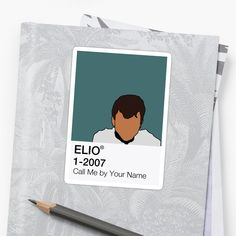'Call Me by Your Name - Elio' Glossy Sticker by fictiophilia Fandom Outfits, Decorate Notebook, Mini Canvas, Your Name, Glossier Stickers, Canvases, Sell Your Art, Sticker Design, Call Me